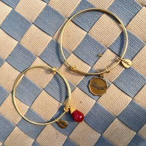 (2) Bella Ryann Expandable Charm Bangle Bracelets